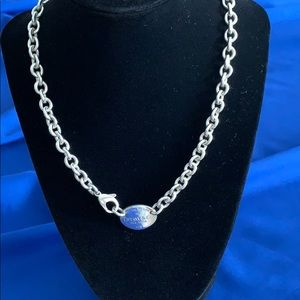 Tiffany & CO Return to Tiffany Tag Chain Necklace